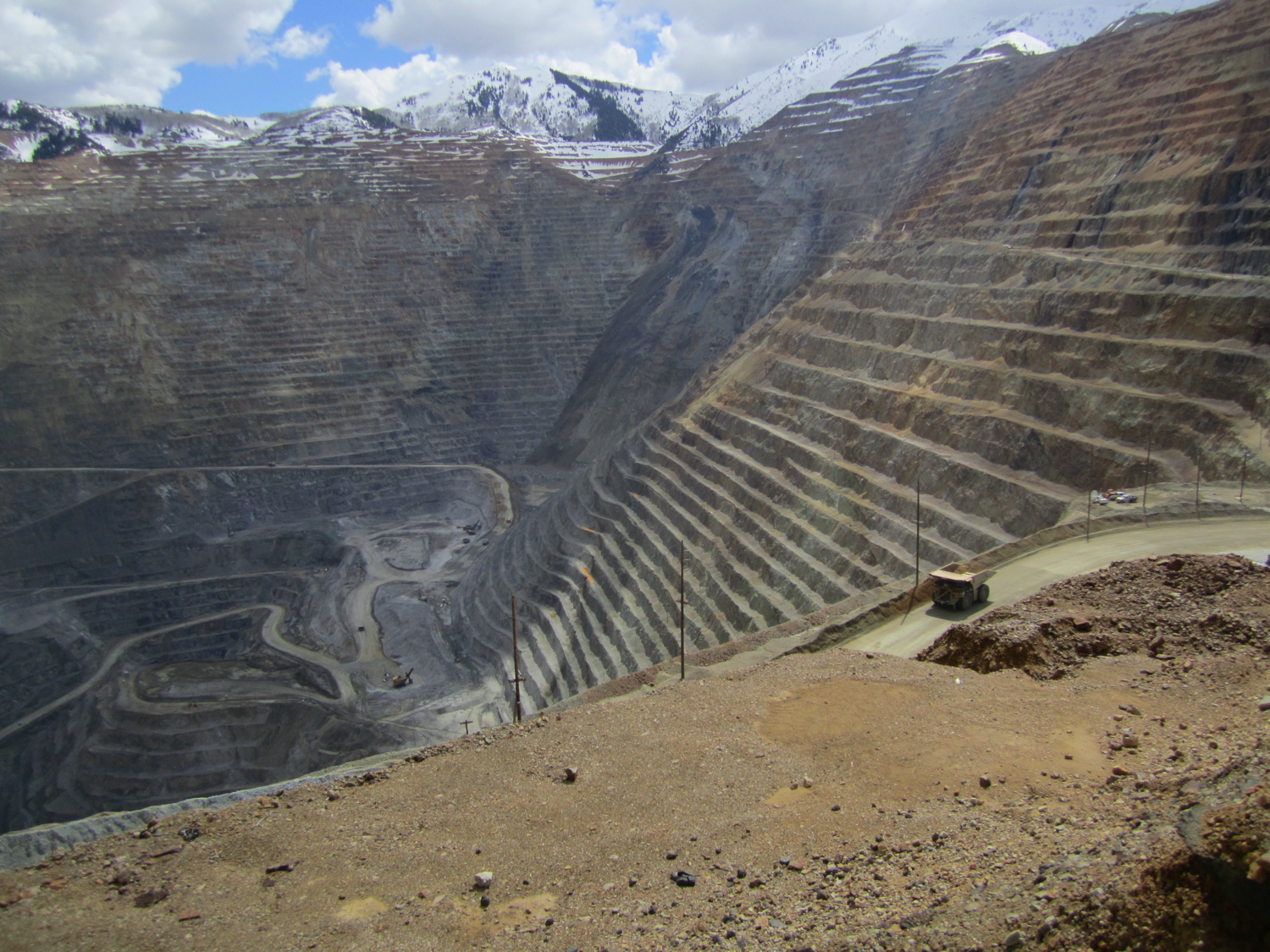 Rio Tinto (formerly Kennecott) copper mine near Salt Lake City, Utah