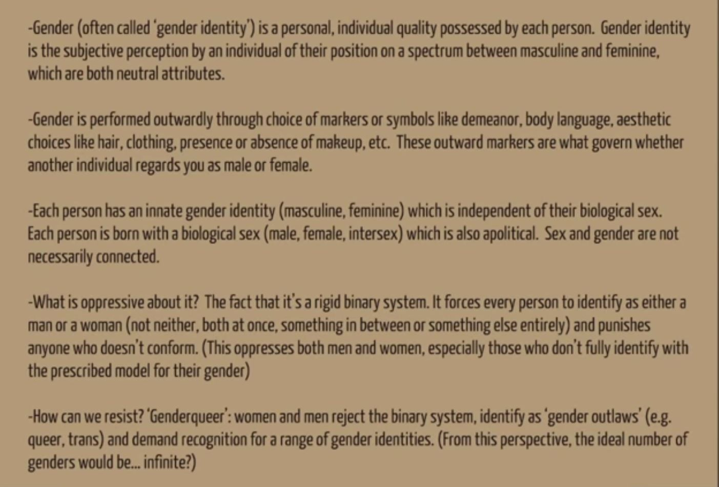 gender identity essay gender identity pictures videos breaking  women radical feminism archives deep green resistance endofgender1 jpg the difference between sexual practice and identity essay